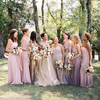 amanda william wedding tennessee purple bridesmaids