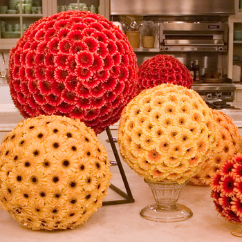 Floral-Sphere Centerpiece