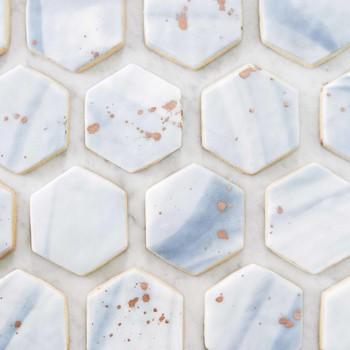 Marbled Hexagonal Sugar Cookies