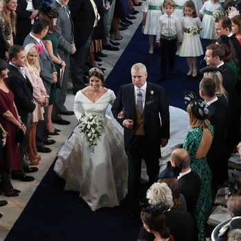 princess eugenie and father prince andrew
