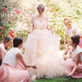 16 Pretty-in-Pink Wedding Dresses