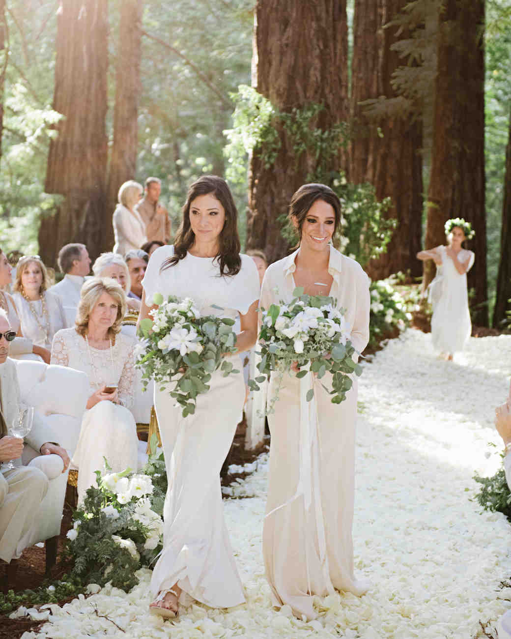 Mismatched Long Neutral Bridesmaid Dresses
