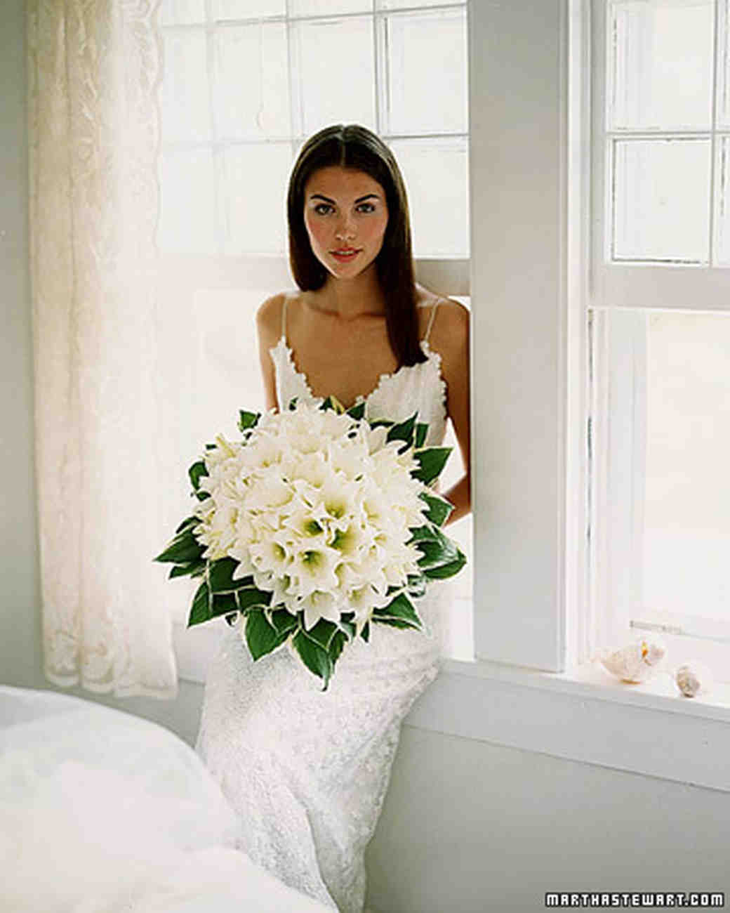 lily bouquet wedding wedding bouquets martha stewart weddings 5547