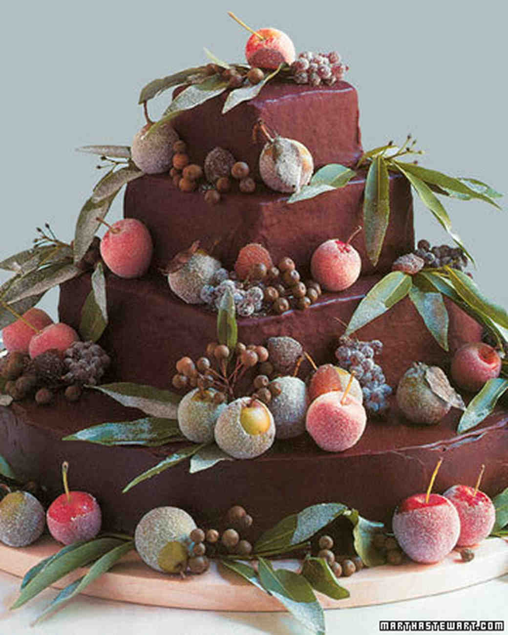 Chocolate Chestnut Wedding Cake