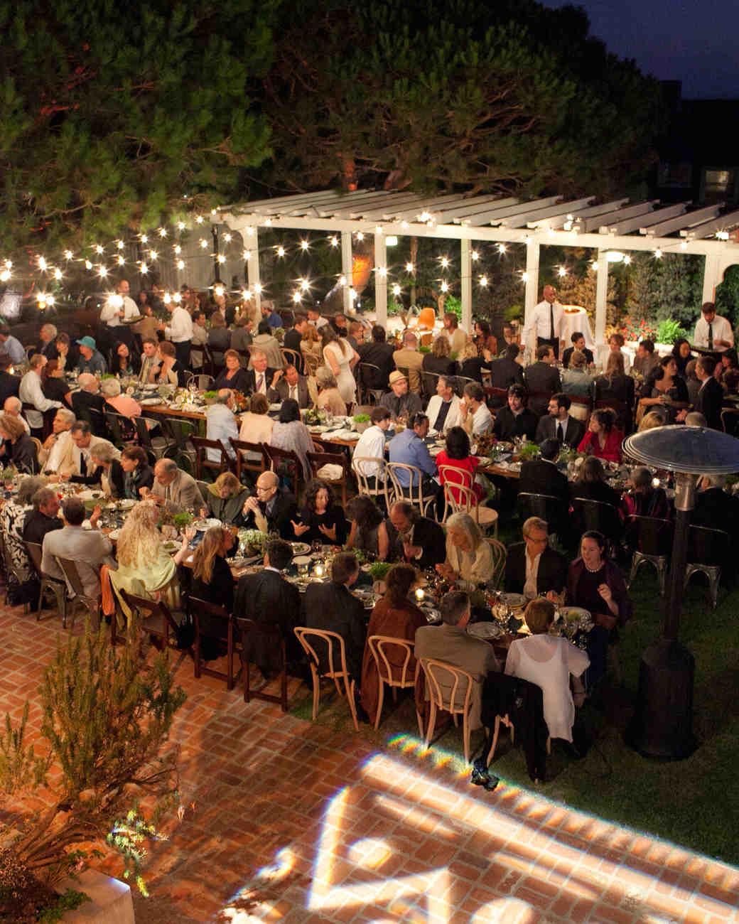 Outdoor wedding lighting decoration ideas Reception Decorations Outdoor Wedding Lighting Ideas From Real Celebrations Martha Stewart Weddings Martha Stewart Weddings Outdoor Wedding Lighting Ideas From Real Celebrations Martha