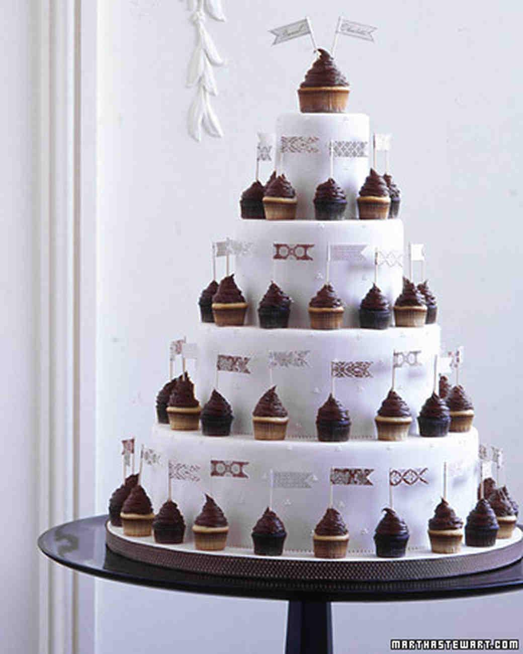 Wedding cake cupcakes ideas