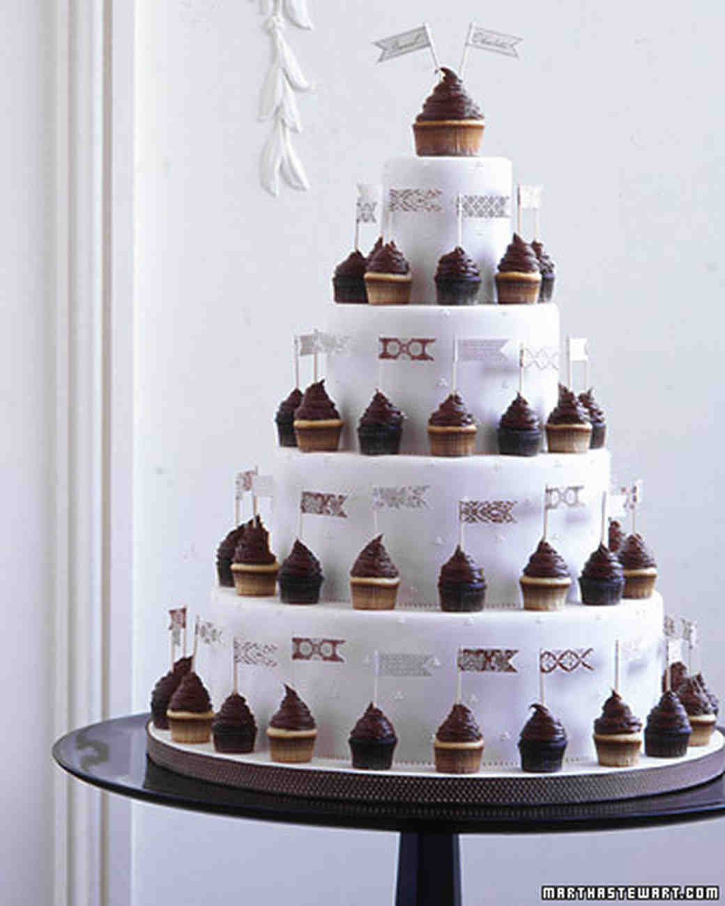 wedding cake and cupcake ideas wedding cupcake ideas martha stewart weddings 21729