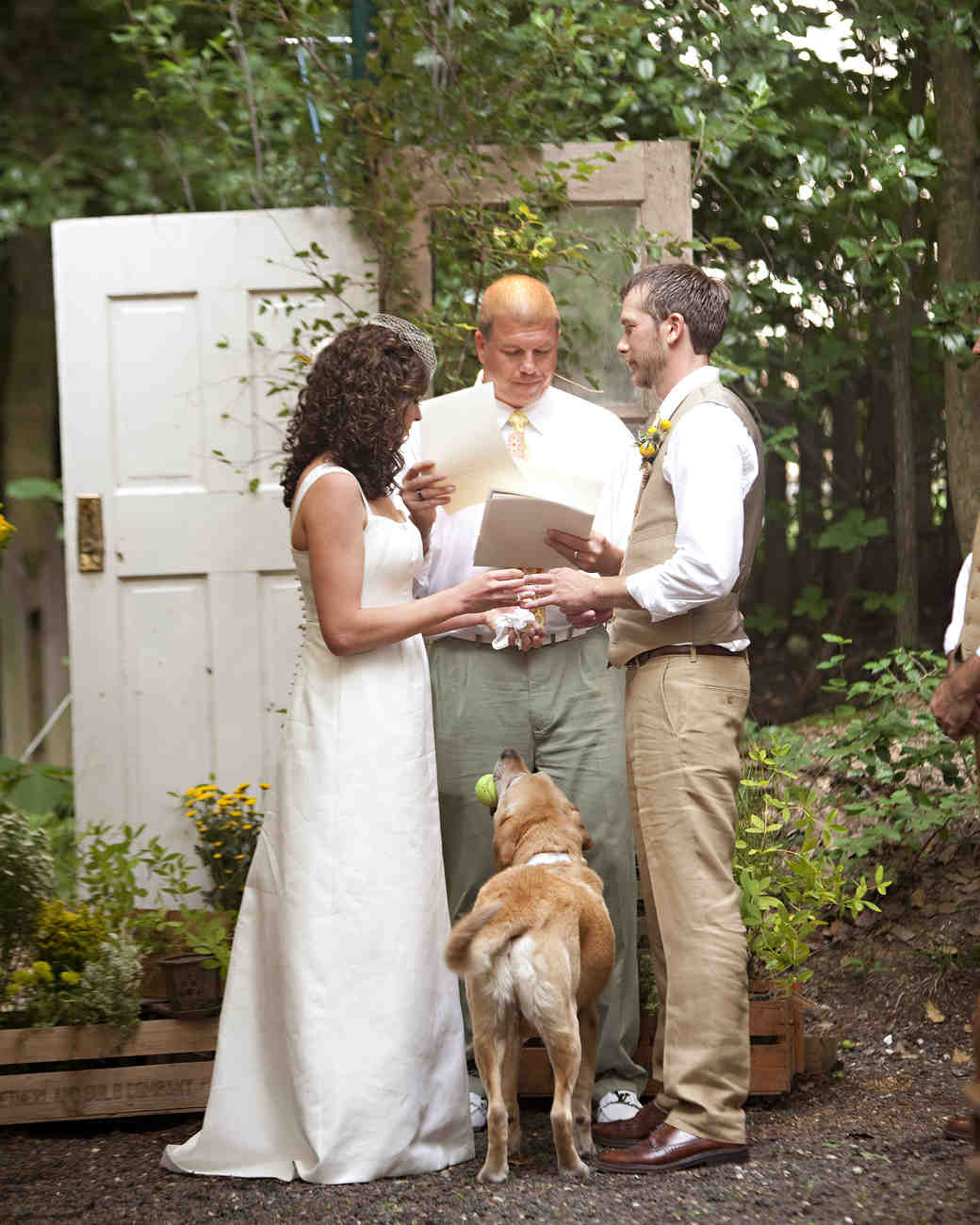 A Casual Outdoor Yellow And White Wedding In Maryland