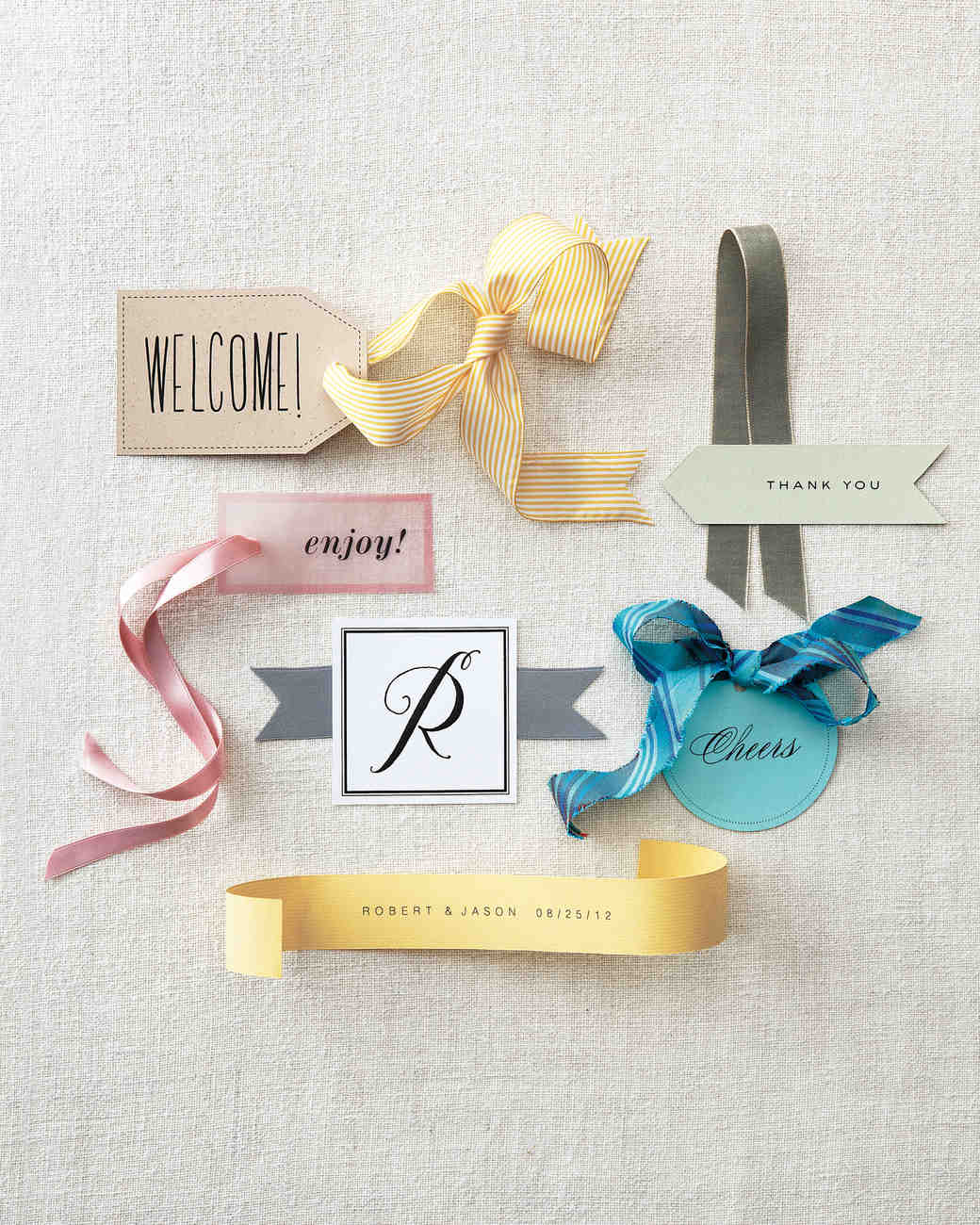 Favor Tag Clip Art and Templates | Martha Stewart Weddings