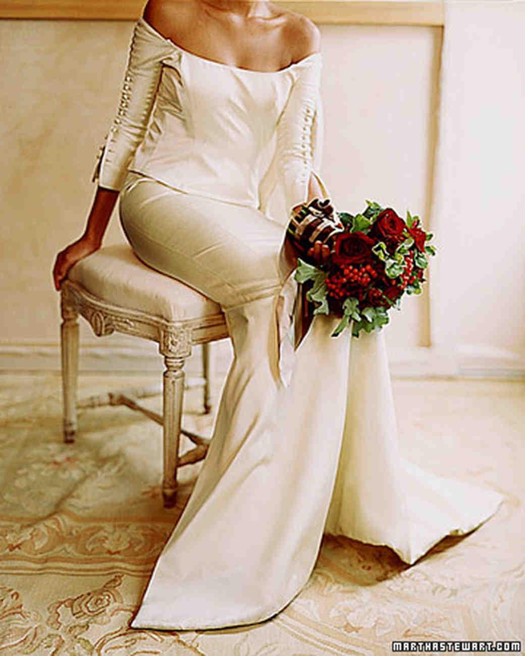 Pale Red Wedding Dress