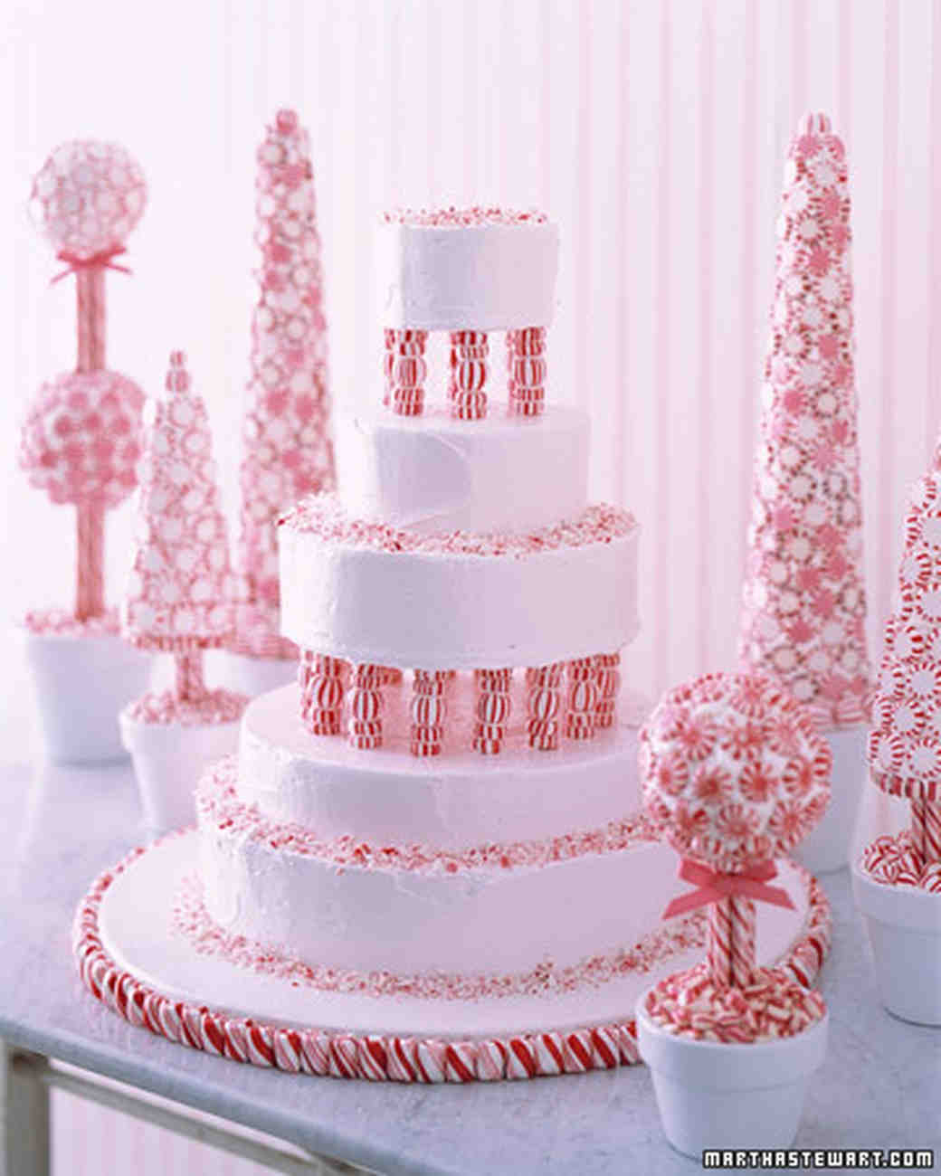 Peppermint Fantasy Cake Recipe | Martha Stewart Weddings