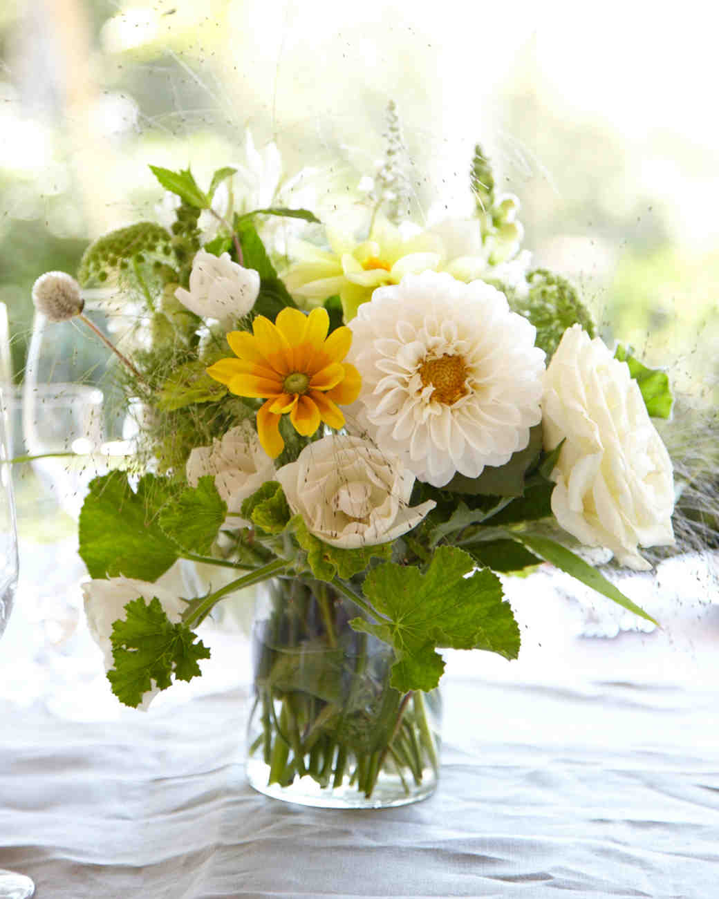 39 simple wedding centerpieces martha stewart weddings Simple flower decoration ideas