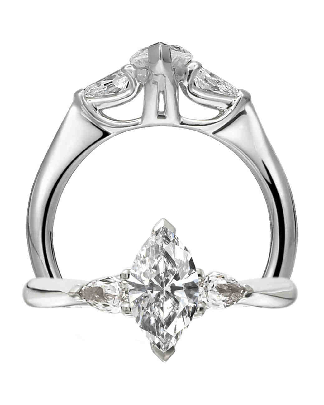 marquise cut diamond engagement rings martha stewart weddings - Marquise Wedding Rings