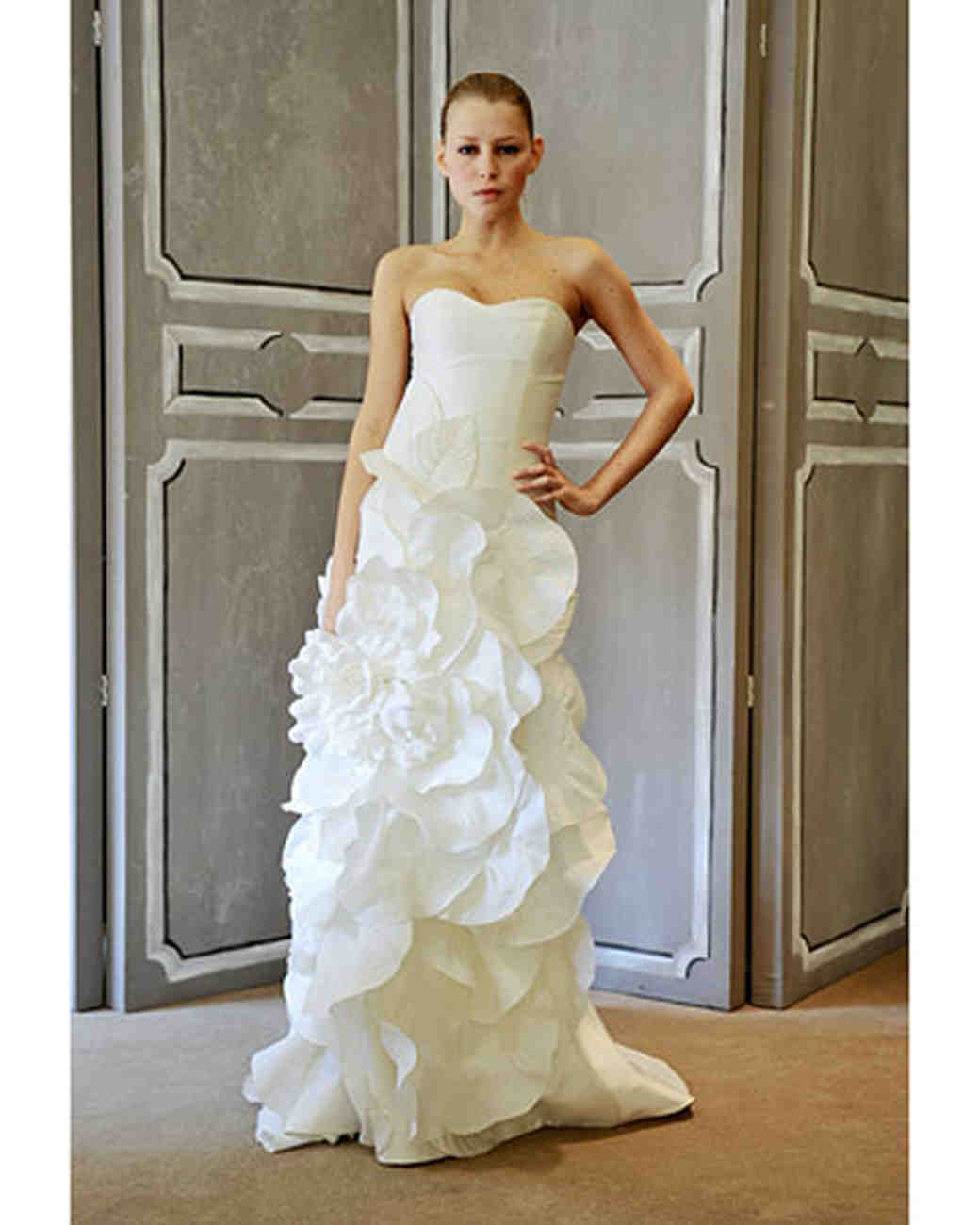 Carolina Herrera Spring 2009 Bridal Collection Martha Stewart Casablanca Wedding Dress