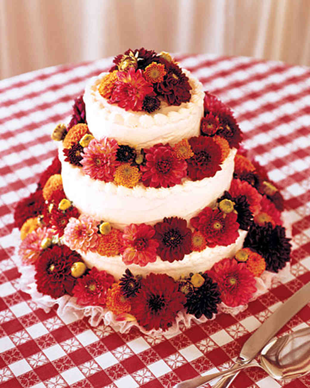 Red wedding cakes martha stewart weddings junglespirit Image collections