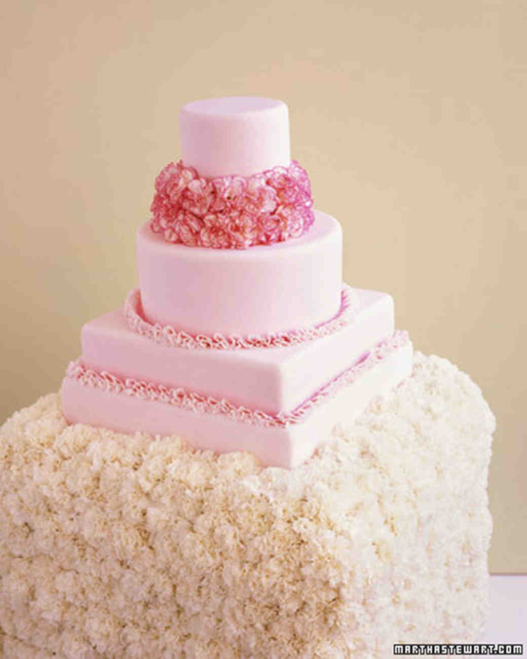 Pink and Red Wedding Cakes | Martha Stewart Weddings