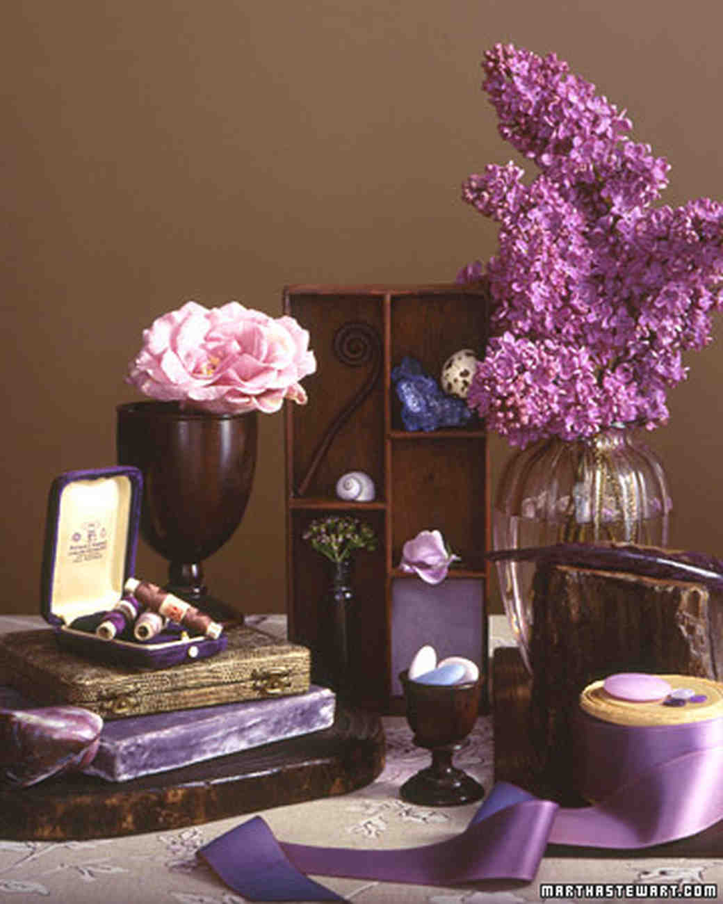 Wedding Colors: Lilac and Brown | Martha Stewart Weddings