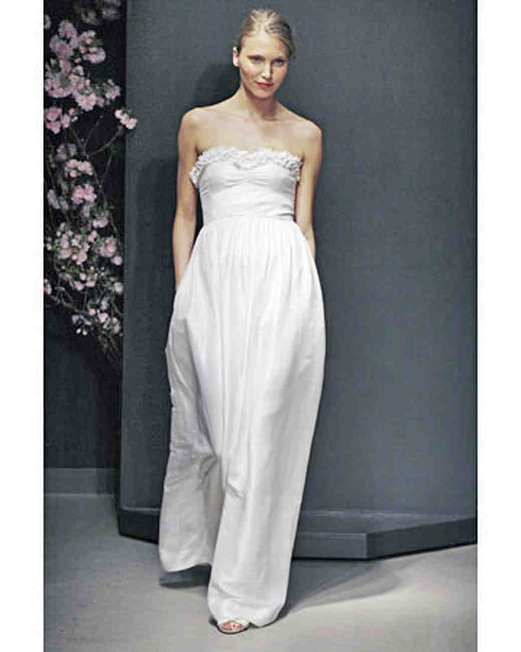 Empire Gowns H-N, Fall 2008 Collections | Martha Stewart Weddings
