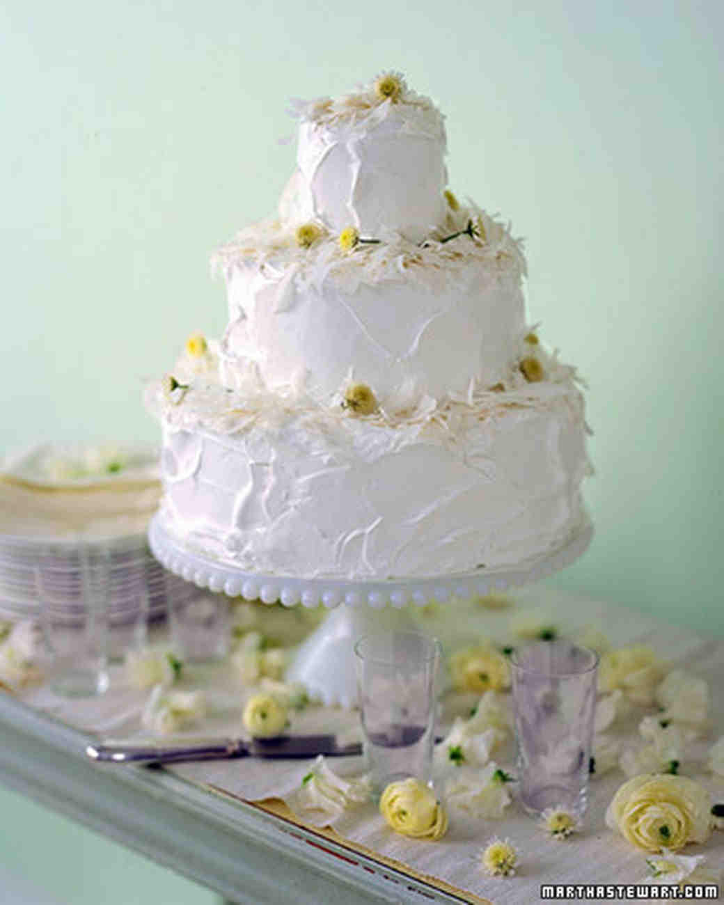 Coconut Wedding Cakes Martha Stewart Weddings - Pineapple Wedding Cake