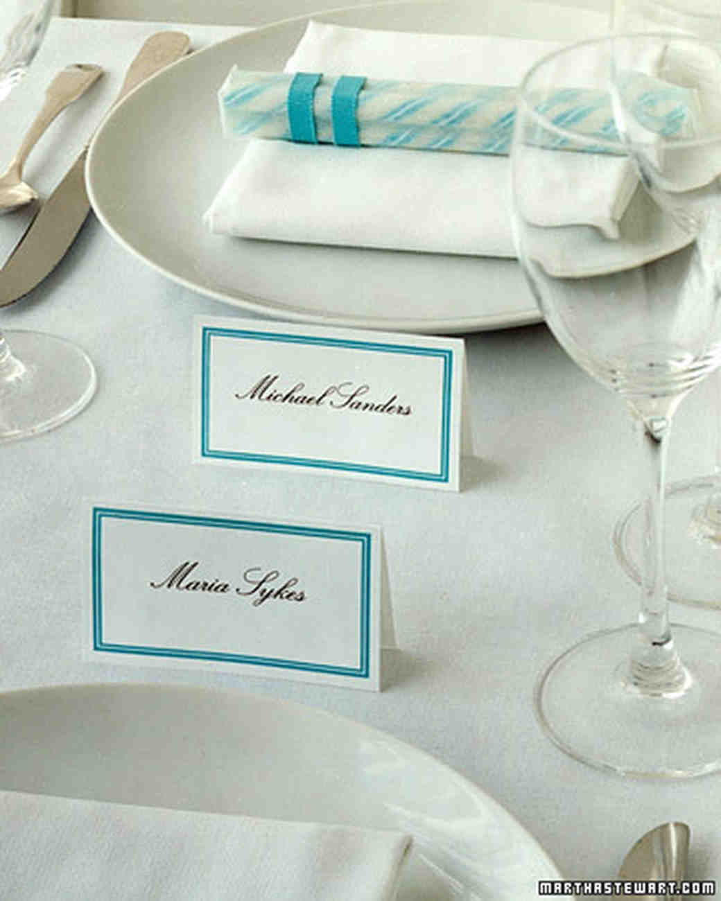 Good Things: Seating Displays and Table Numbers | Martha Stewart ...