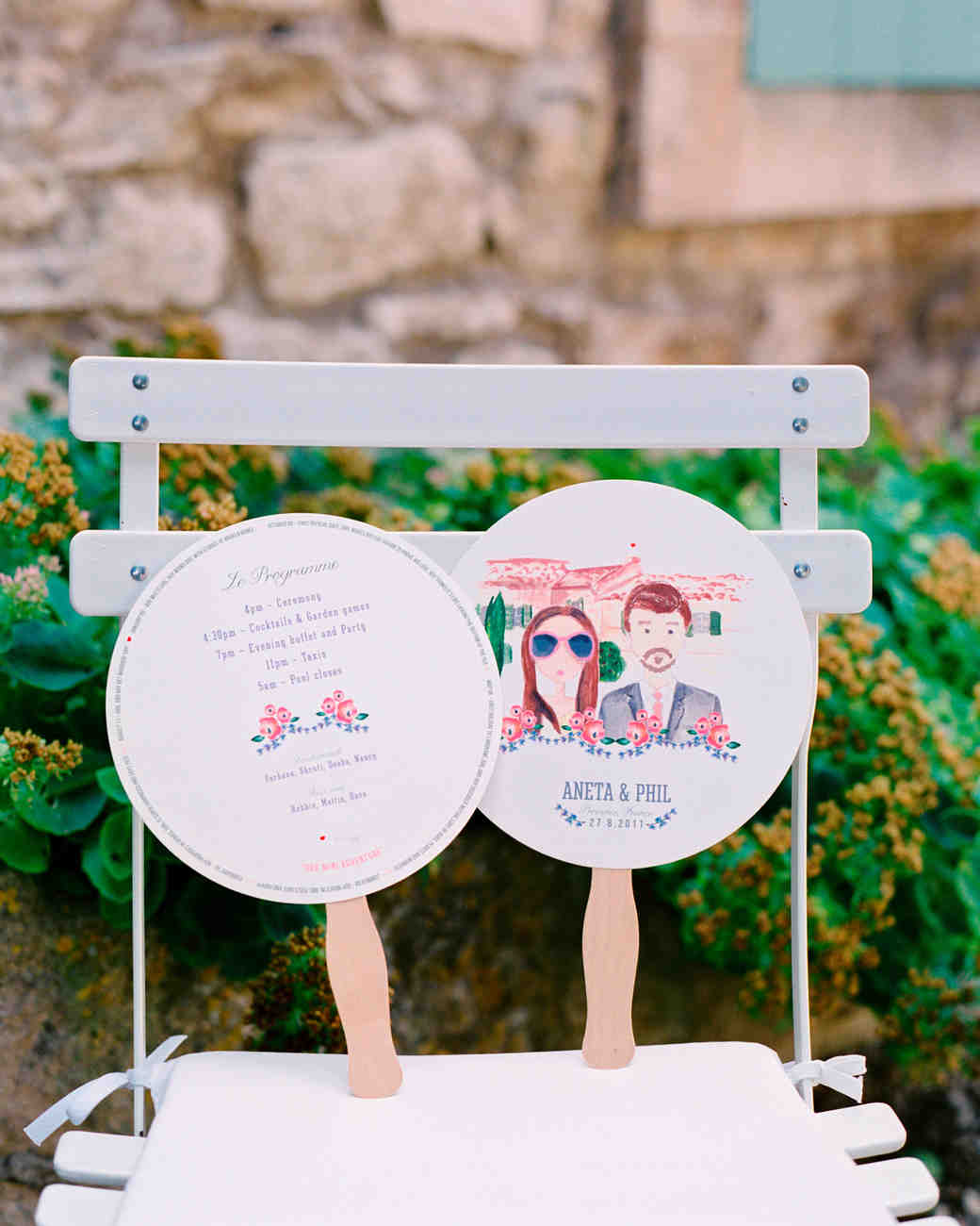 11 wedding program fans to keep guests cool martha stewart weddings maxwellsz