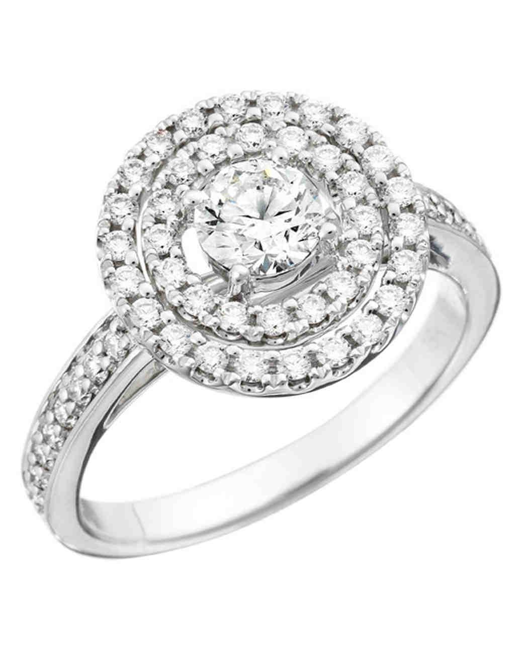RoundCut Diamond Engagement Rings Martha Stewart Weddings