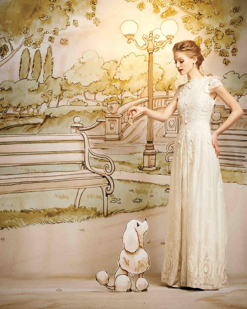 Dreamy fairy tale wedding dresses martha stewart weddings for Fairy tale wedding dresses