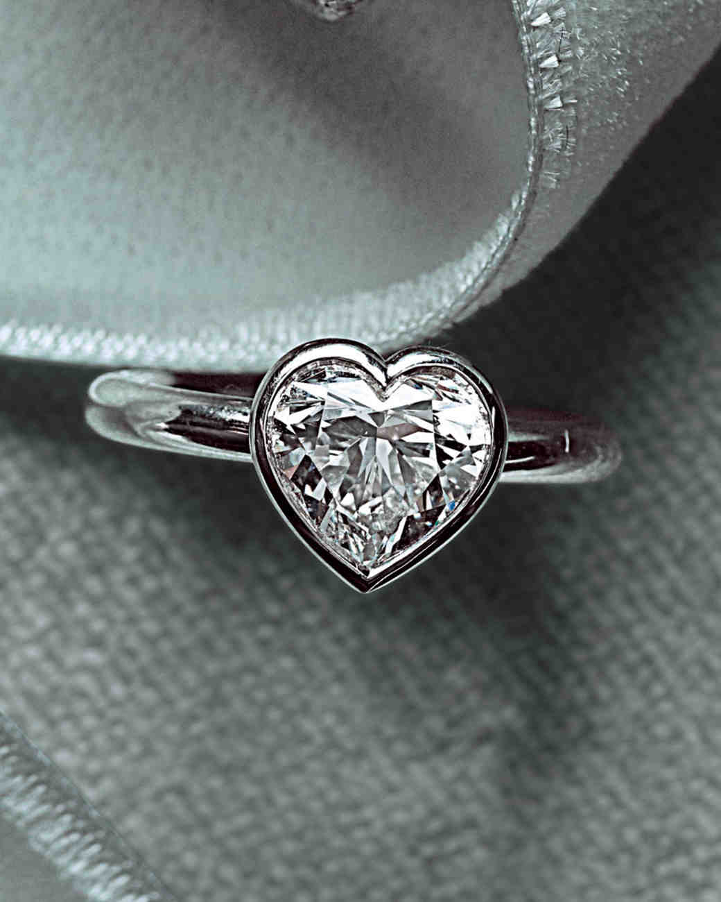HeartShaped Engagement Rings Martha Stewart Weddings
