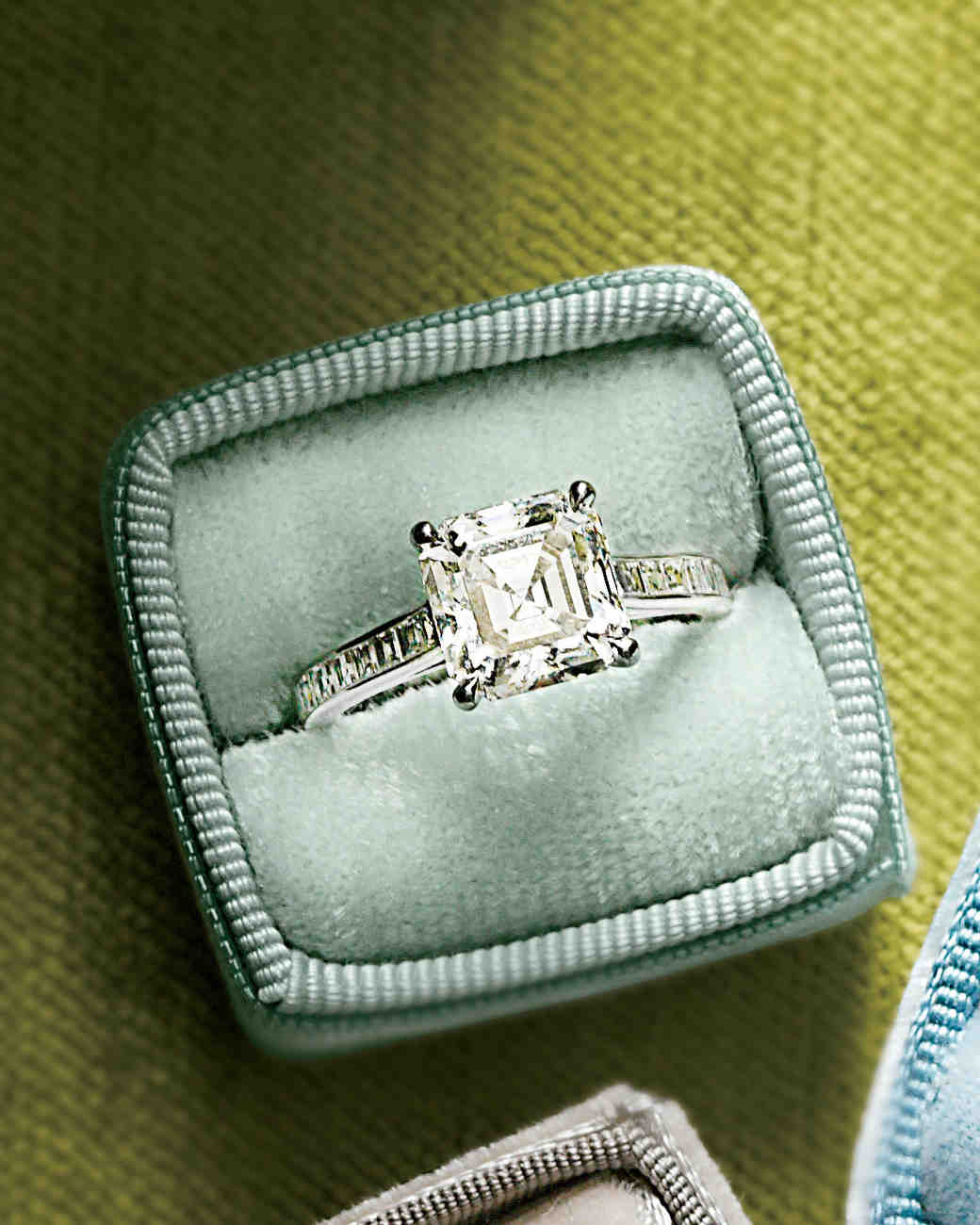 double unique for bridal ring wedding idea emerald set awesome of rectangle engagement rings cut elegant band