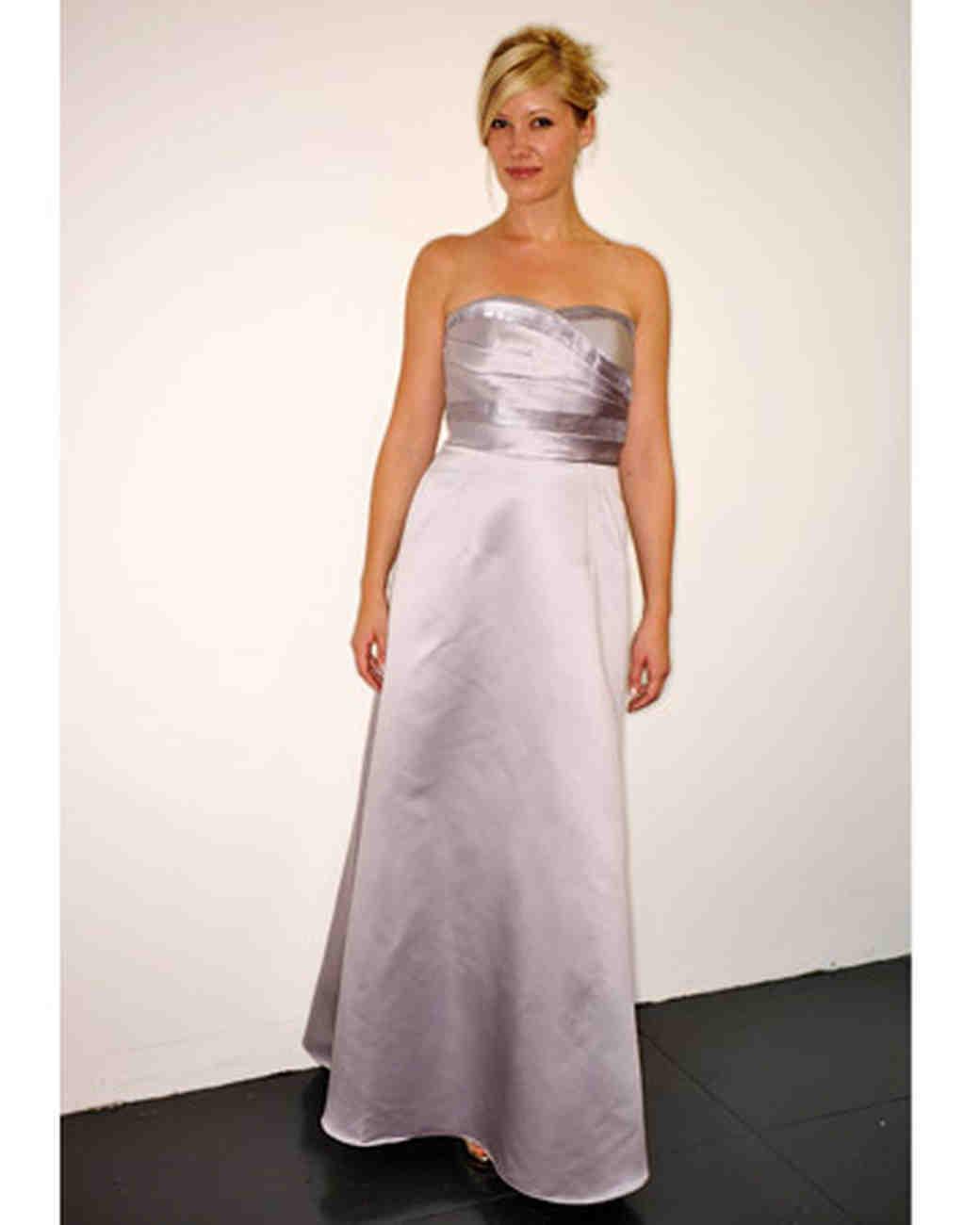 Light Purple Strapless Dresses