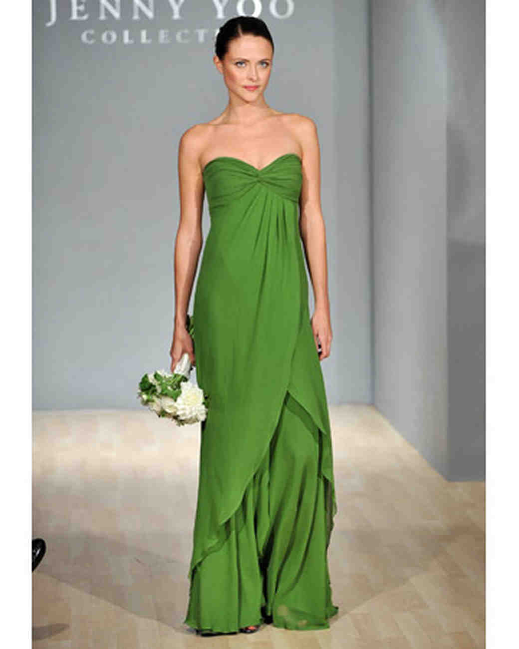 Blue and green bridesmaid dresses martha stewart weddings green empire waist dress ombrellifo Choice Image