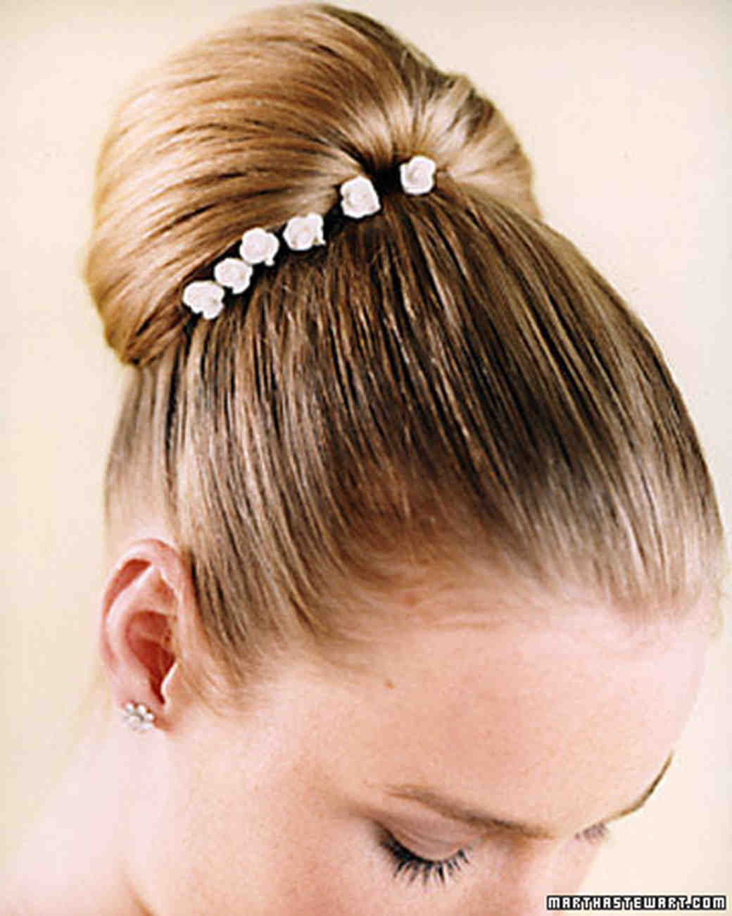 Wedding hairstyles martha stewart weddings the classic bun junglespirit Choice Image