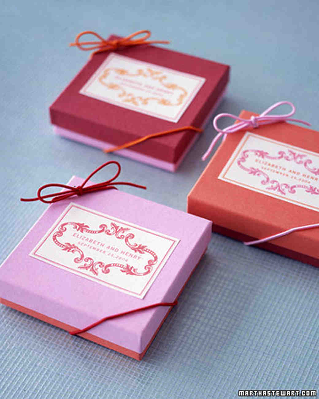 Boxed Wedding Favors | Martha Stewart Weddings