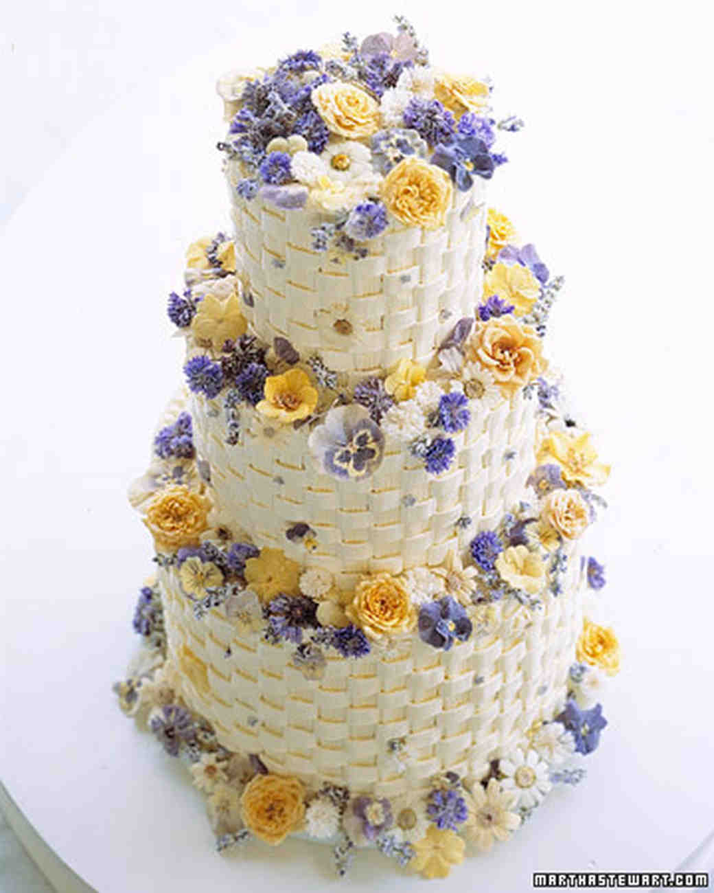 Flower Wedding Cupcake Ideas: Crystallized Flowers Cake