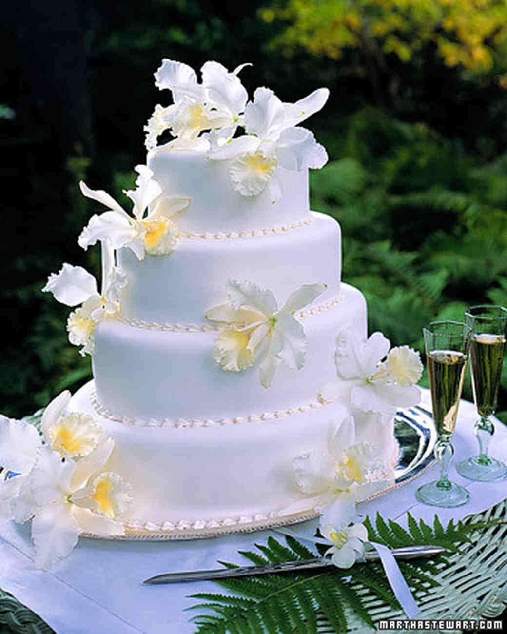 White Orchid Cake Martha Stewart Weddings