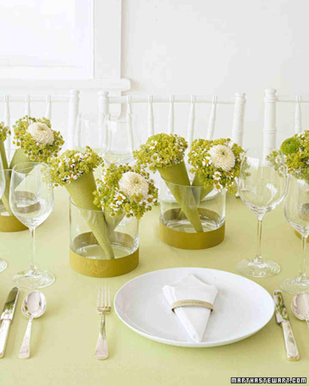 Favor Centerpieces Mini Bouquets Martha Stewart