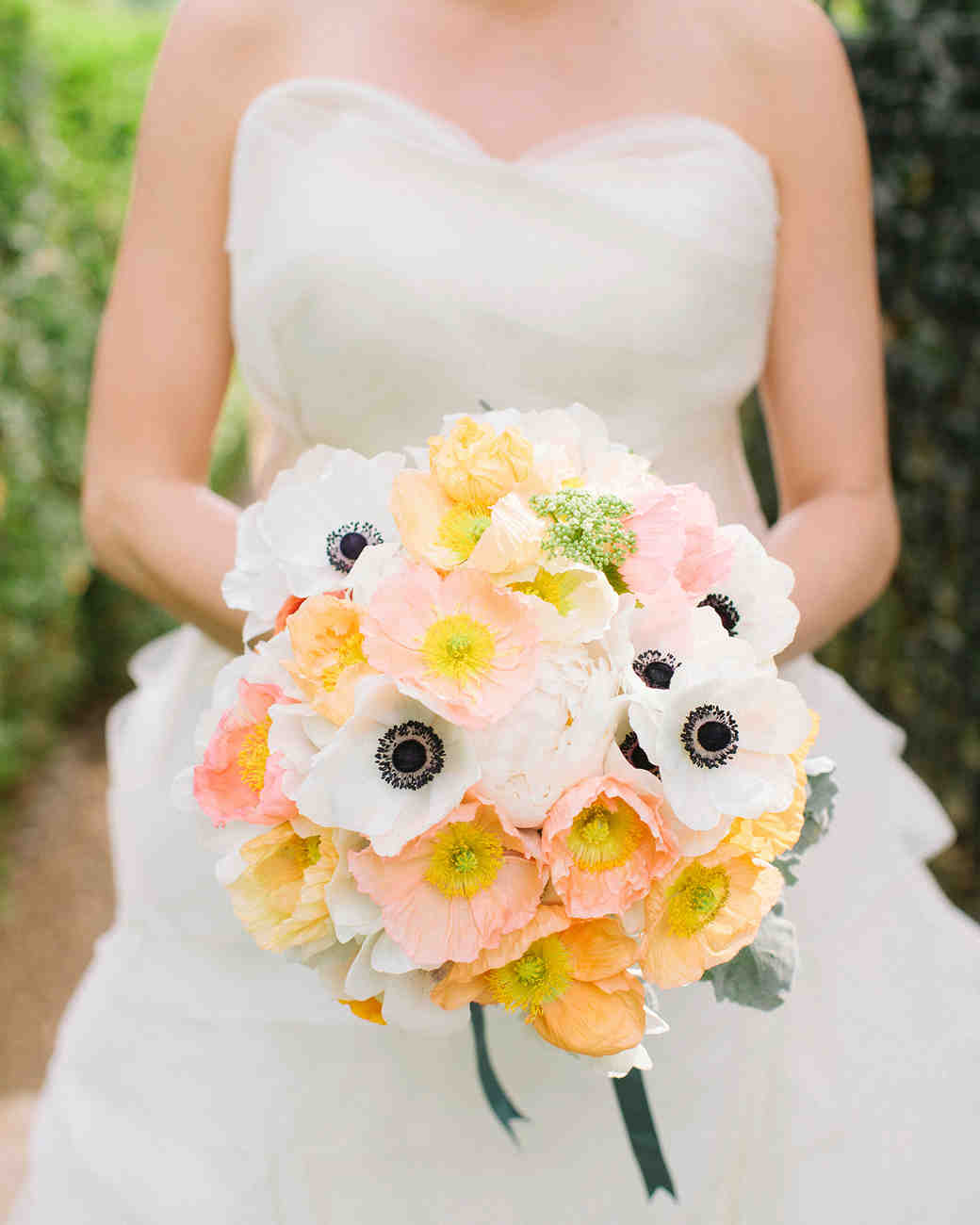 White and Orange Wedding Bouquet