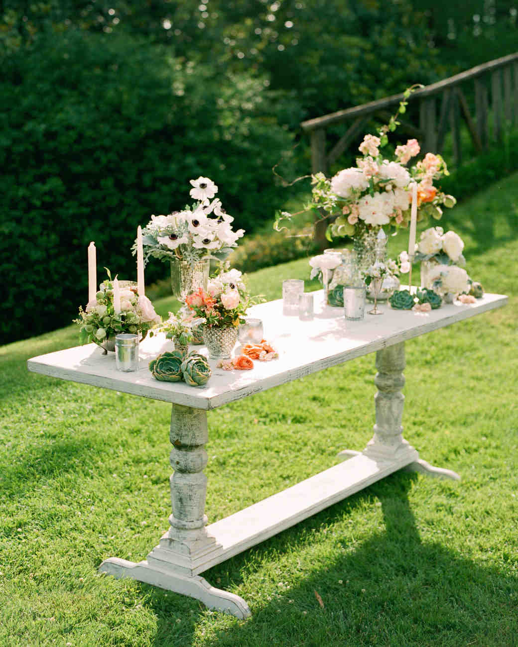 Country Wedding Altar Ideas: A Vintage, Formal Outdoor Wedding In Virginia