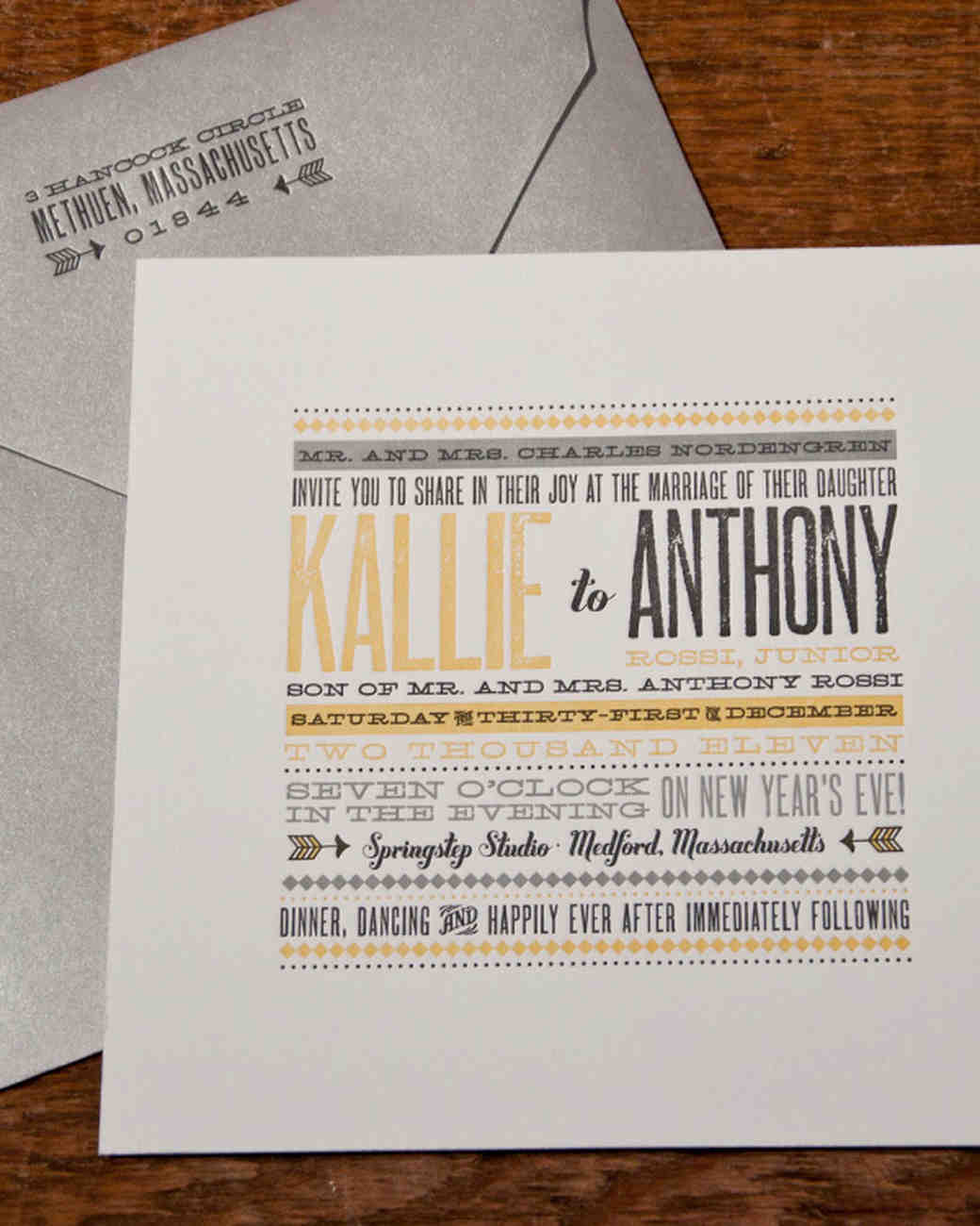 vintage wedding invitations martha stewart weddings - Vintage Style Wedding Invitations