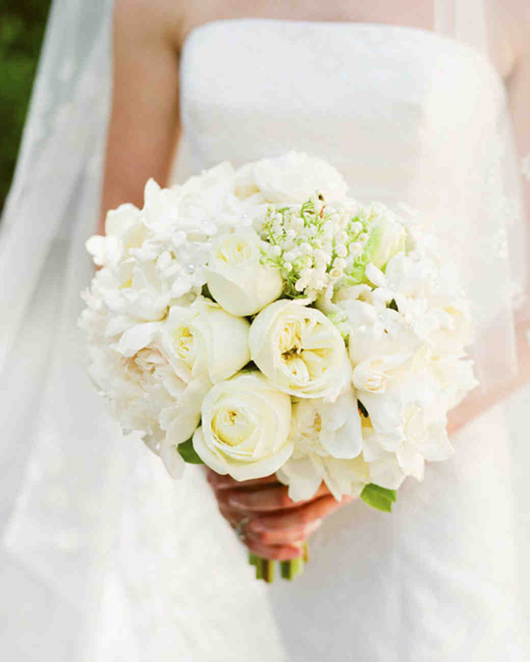 White Wedding Flowers: Real Weddings With White Ideas