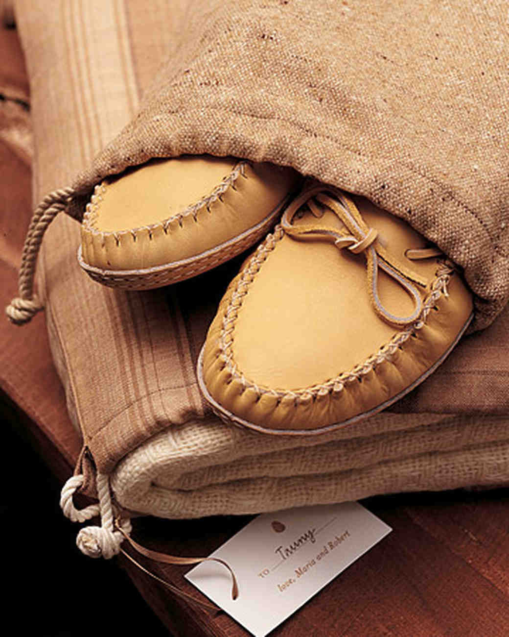 Moccasin Wedding Favor