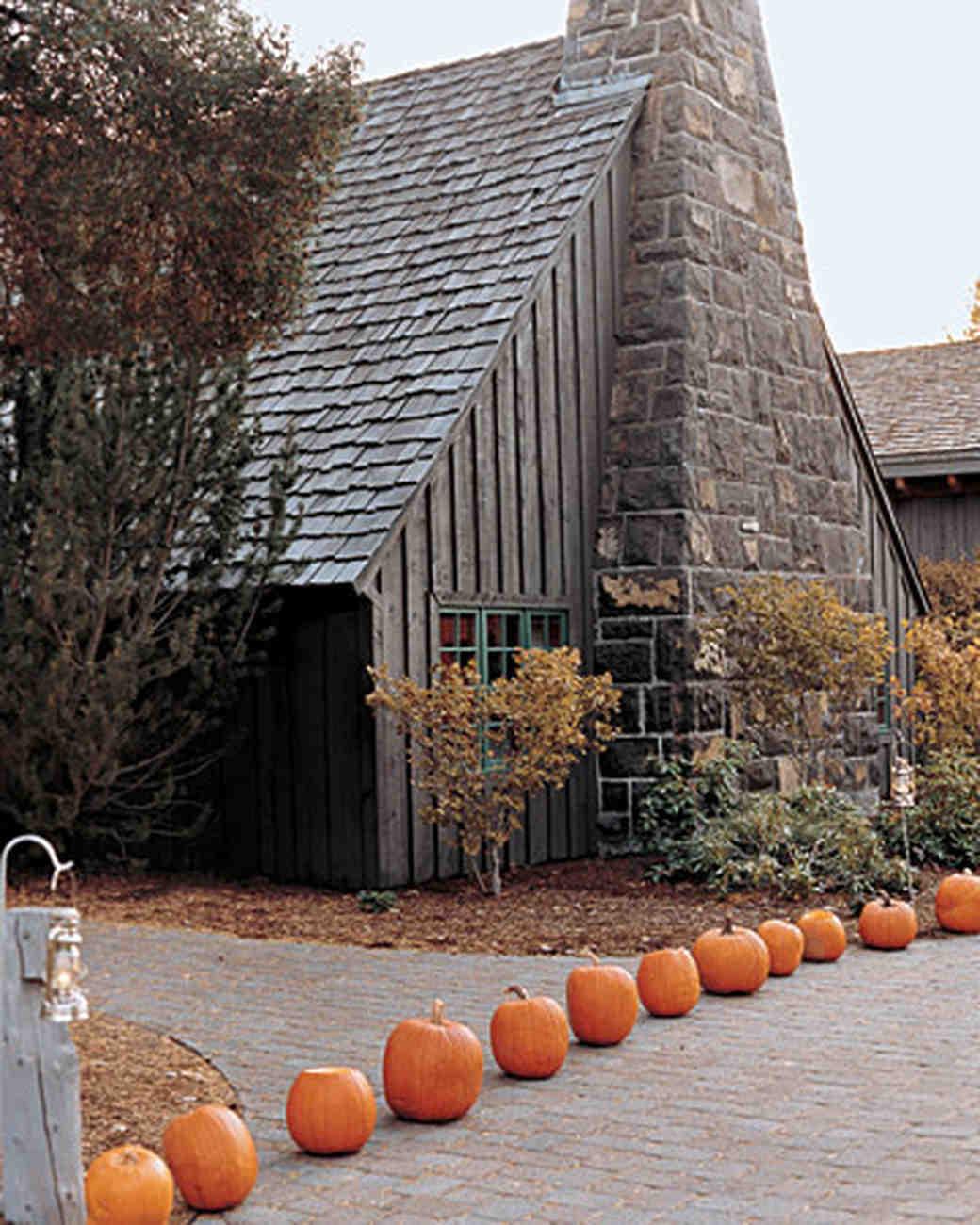 Pumpkin-Lined Walkway