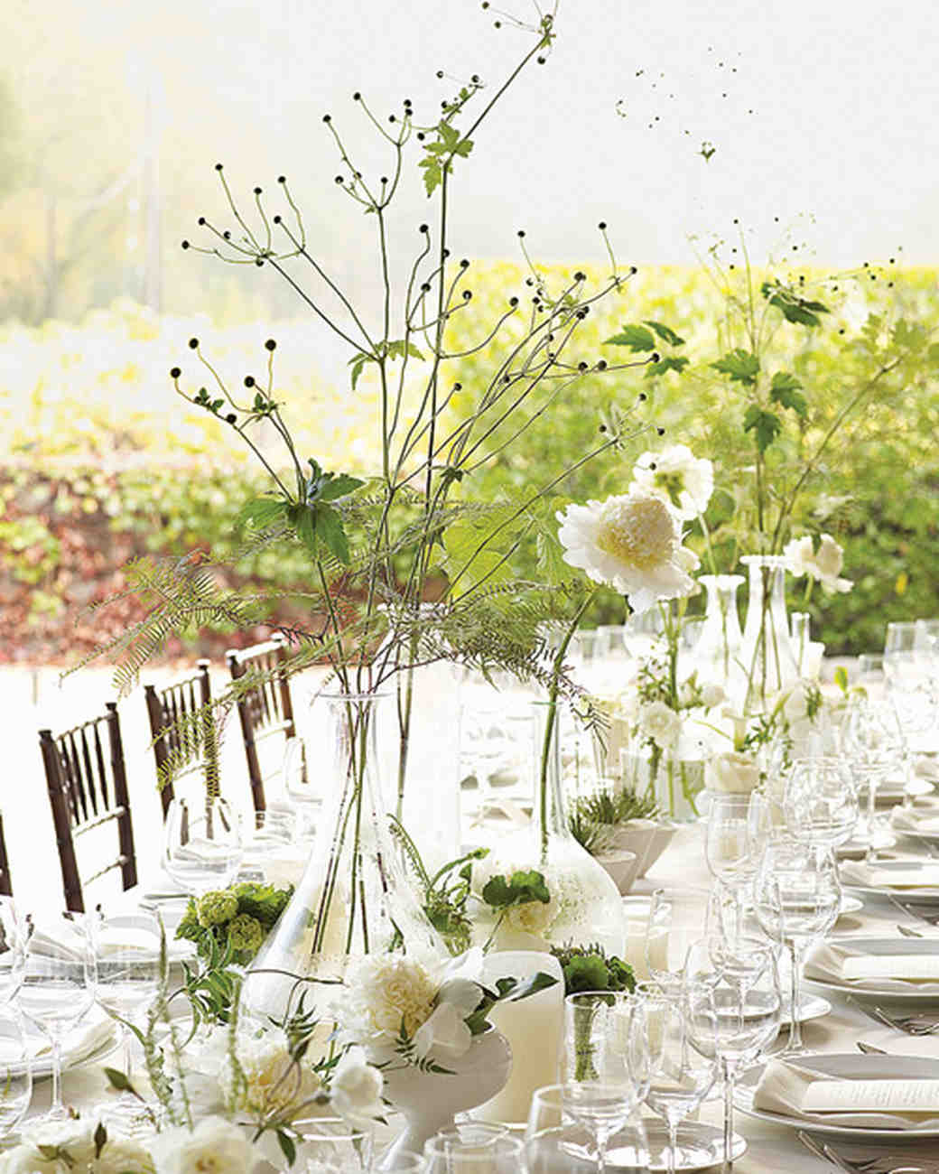 milk jug centerpieces