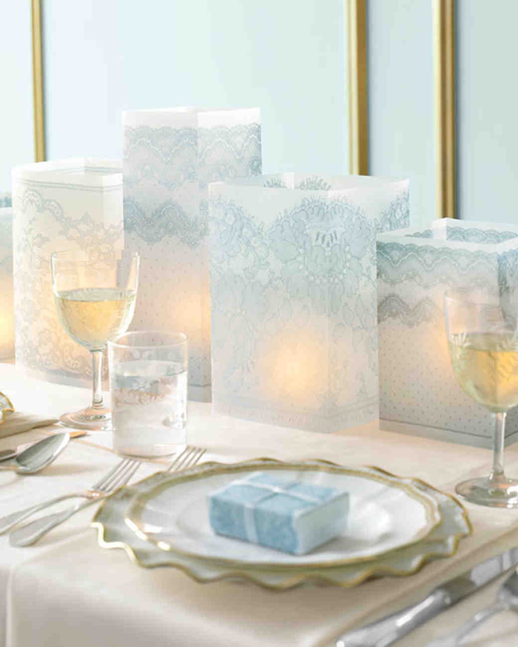Lace Luminaria Centerpieces
