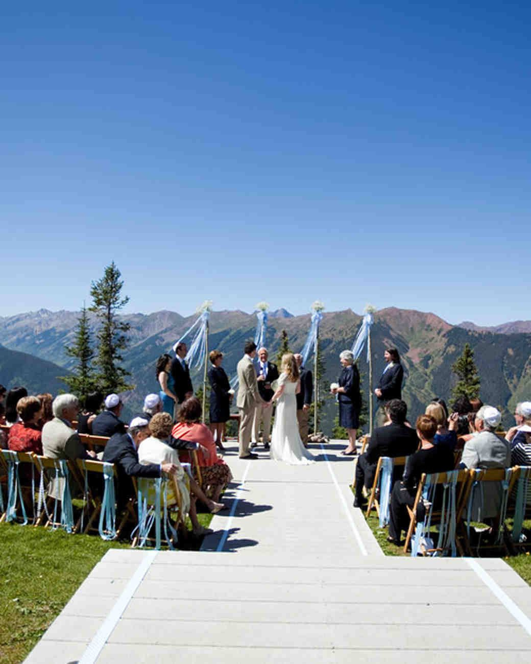 The Little Nell Wedding Deck Aspen Colorado