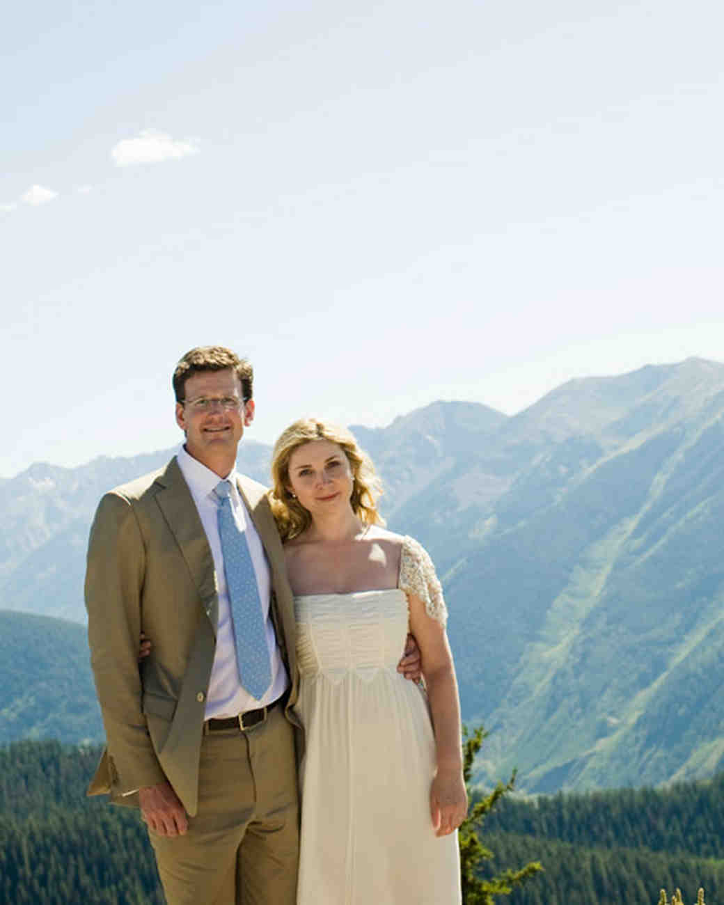 A Romantic Rocky Mountain Destination Wedding | Martha Stewart Weddings
