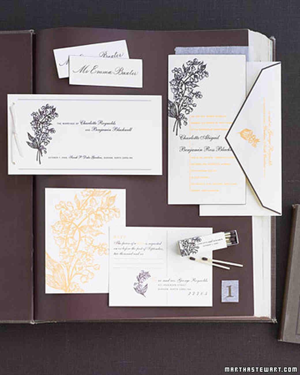 The Etiquette of Wedding Invitation Enclosures Martha Stewart