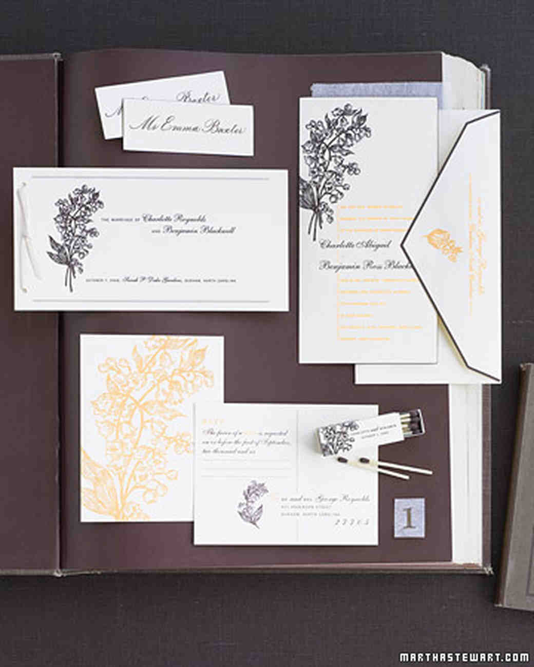 The Etiquette of Wedding Invitation Enclosures | Martha Stewart ...