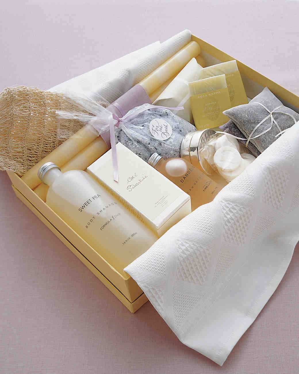 Toiletries such as bubble bath or massage oils are always a bridal shower winner