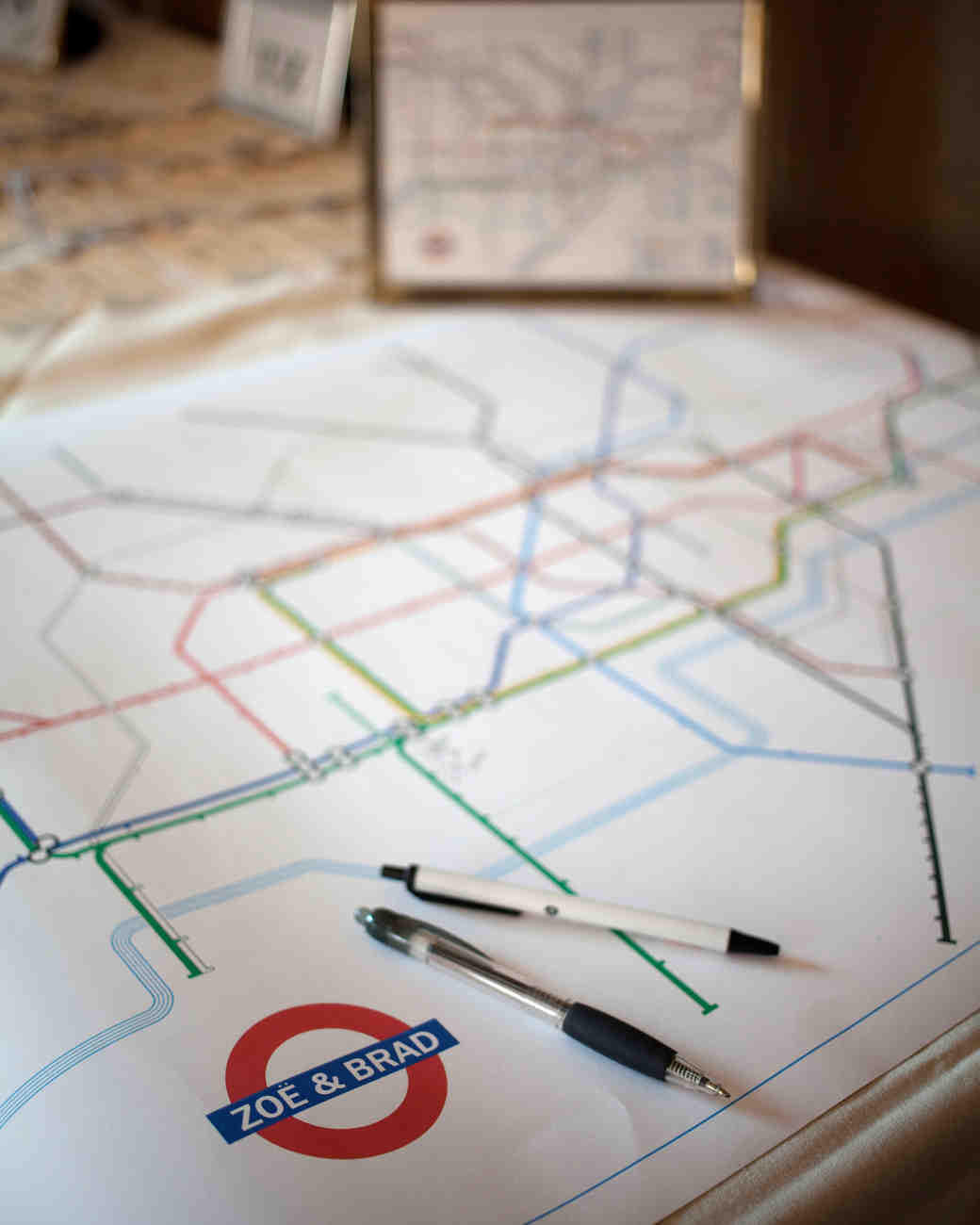 Tube Map Guest Book